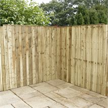 5 x 6 Waltons Pressure Treated Vertical Hit and Miss Fence Panel