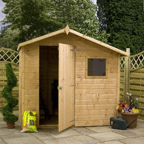 5 x 7 waltons apex tongue groove shed for Garden shed 5x7