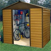 10 x 6  106WGL Yardmaster Wood Grain Apex Metal Shed