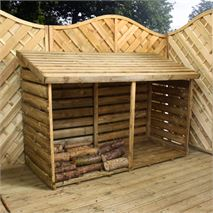 6 x 3 Waltons Double Timber Log Store