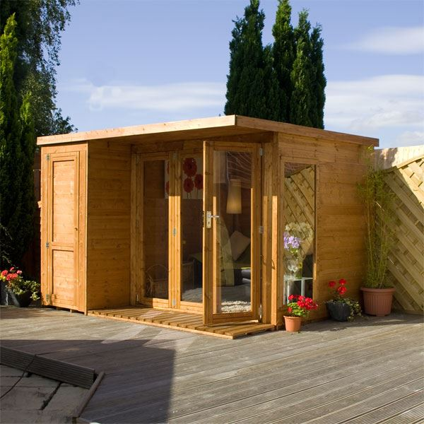 12 x 8 waltons contemporary summerhouse with side shed rh for 12x8 shed with side door