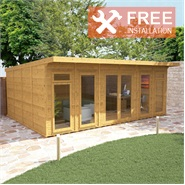 6m x 4m Waltons Insulated Garden Room - FREE Installation