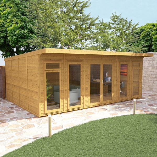 4m x 6m waltons insulated garden room for Garden gym room uk