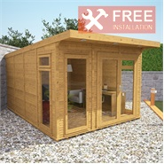 3m x 4m Waltons Insulated Garden Room - FREE Installation