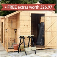 8' x 8' Tongue and Groove Combi Store