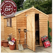 8' x 6' Ultra Value Overlap Apex Garden Shed with Windows