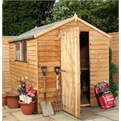 8 x 6 Value Overlap Apex Garden Shed with Windows