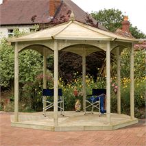 13ft Regis Octagonal Gazebo - No Sides