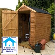 6' x 4' Windowless Overlap Apex Shed Sustainable Code Compliant