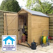 6' x 4' Tongue & Groove OSB Windowless Shed Sustainable Homes Compliant