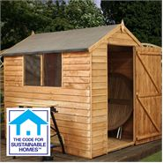 7' x 5' Overlap Apex Shed Sustainable Homes Code Compliant