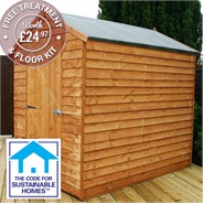 7' x 5' Windowless Overlap Apex Shed Sustainable Code Compliant