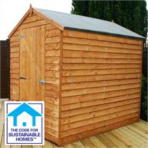 7 x 5 Windowless Overlap Apex Shed Sustainable Code Compliant