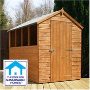 7' x 5' Tongue & Groove Apex Shed Sustainable Homes Code Compliant