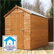 7' x 5' Tongue & Groove Windowless Apex Shed Sustainable Homes Compliant