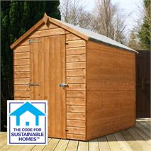 7 x 5 Tongue & Groove Windowless Apex Shed Sustainable Homes Compliant