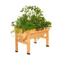 VegTrug 1m Small Wooden Patio Planter