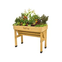Vegtrug Wall Hugger 1m Small Wooden Patio Planter