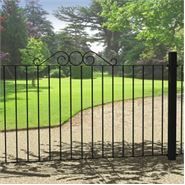 "3' 0"" x 5' 11"" Ironbridge Scroll Top Fence Panel"