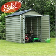 Waltons 6 x 8 Green Skylight Plastic Shed - Free Floor!