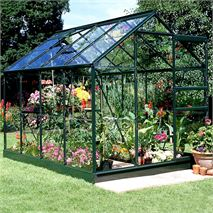 8 x 6 Halls Green Aluminium Popular Greenhouse with Vent
