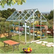6 x 8 Snap & Grow Silver Greenhouse