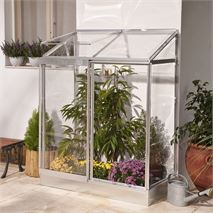 Palram 4 x 2 Lean-To Silver Mini Greenhouse