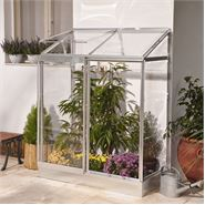 4 x 2 Lean-To Silver Mini Greenhouse