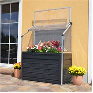 4 x 2 Plant Inn Compact Silver Lean-To Raised Bed