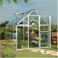 6 x 8 Silver Harmony Clear Polycarbonate Greenhouse