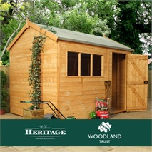 Woodland Trust 10 x 8 Heritage Reverse Apex Garden Shed