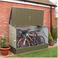 "6' 5"" x 2' 11"" Protect A Cycle Trimetal Bicycle Store - Green"