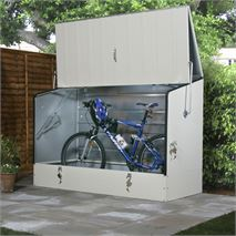 "6' 5"" x 2' 11"" Protect A Cycle Trimetal Bicycle Store - Cream"
