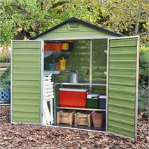 Waltons 6 x 3 Green Skylight Plastic Shed - Free Floor!