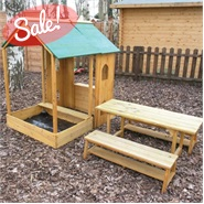 3 x 3 Waltons Sandpit Playhouse and Bench