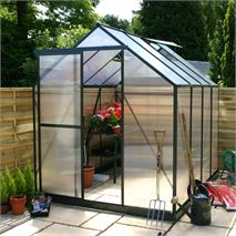 4 x 6 Waltons Green Extra Tall Polycarbonate Greenhouse - With FREE Base!