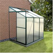 4' x 6' Evesham Lean-To Greenhouse with FREE Base