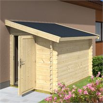 1.5m x 2.6m Lean-To Bike Shed 2600