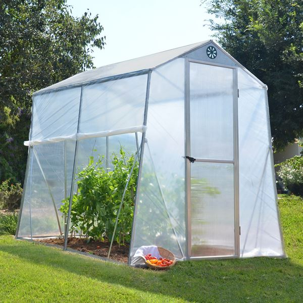 Portable Greenhouse With Heat : Palram allegro portable aluminium greenhouse