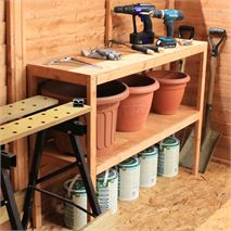 5ft Waltons Double Tier Wooden Shelf Set - Free Next Day Delivery!*