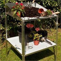 Halls Silver Alumimium Greenhouse Potting Bench