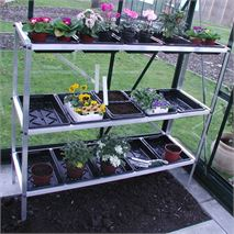 Halls 3 Tier Aluminium Greenhouse Seed Tray Tidy