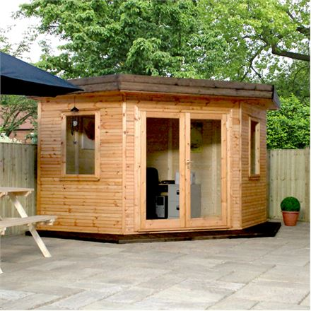 3m x 3m waltons insulated corner garden room for Best garden rooms uk