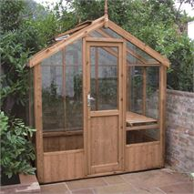 "Swallow Kingfisher 6' 8"" x 4' 3"" Thermowood Timber Greenhouse"