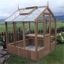 "Swallow Kingfisher 6' 8"" x 6' 4"" Thermowood Timber Greenhouse"