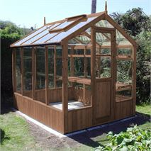 "Swallow Kingfisher 6' 8"" x 8' 4"" Thermowood Timber Greenhouse"