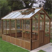 "Swallow Kingfisher 6' 8"" x 10' 5"" Thermowood Timber Greenhouse"
