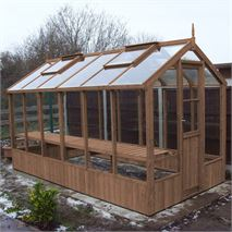 "Swallow Kingfisher 6' 8"" x 12' 7"" Thermowood Timber Greenhouse"