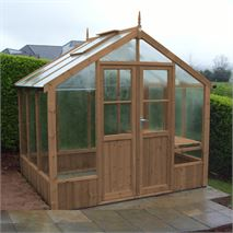 "Swallow Raven 8' 9"" x 6' 4"" Thermowood Timber Greenhouse"
