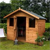 6 x 8 Waltons Tongue and Groove Apex Garden Shed With Front Windows